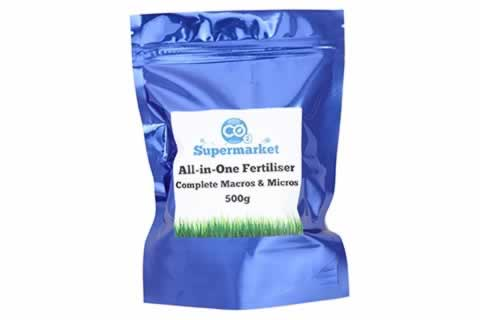 Photo of pre-made complete fertilisers from CO2 Supermarket.
