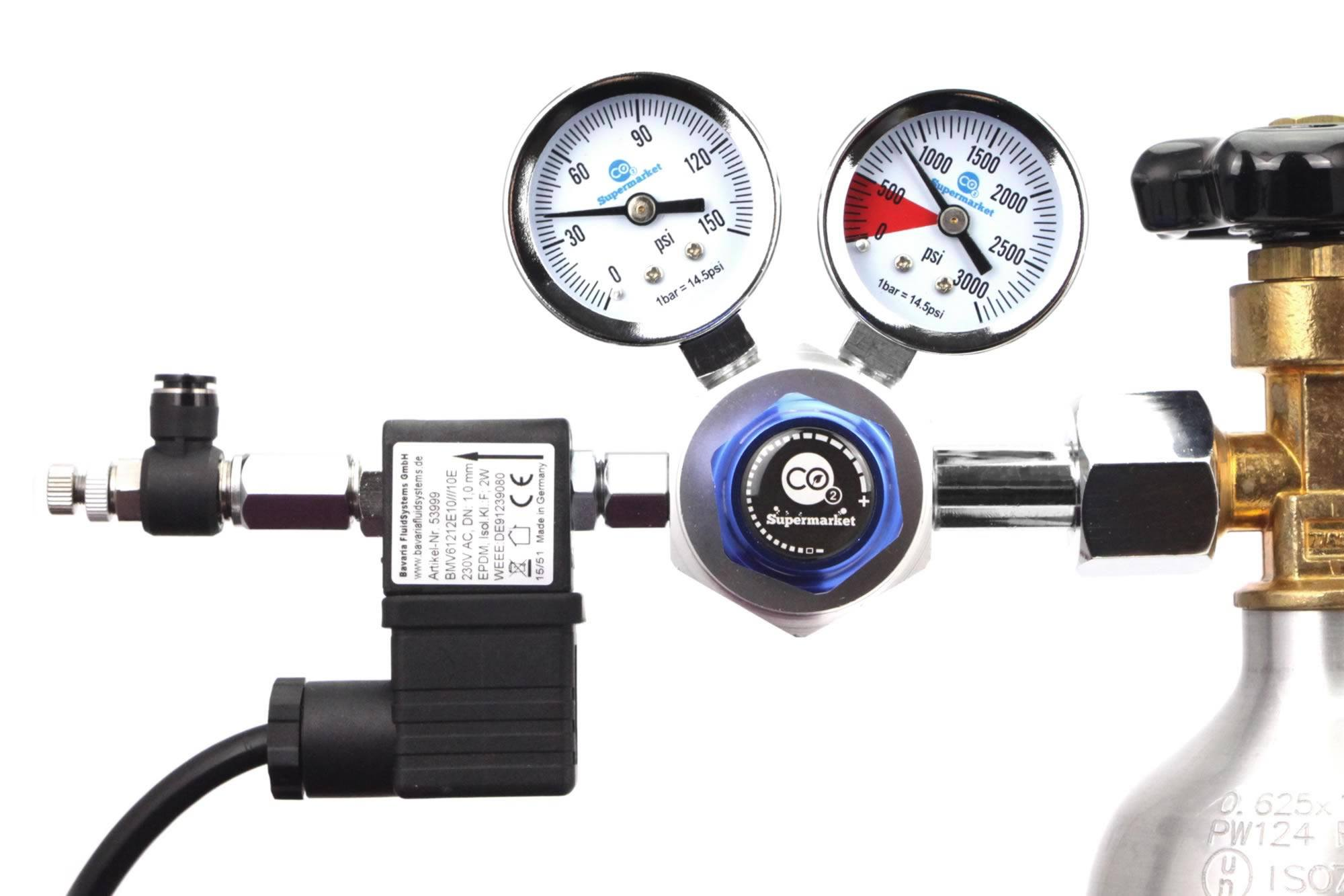Advanced Dual Stage Co2 Regulator With Bmv Solenoid And
