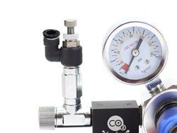 Pisco valve attached to co2 regulator