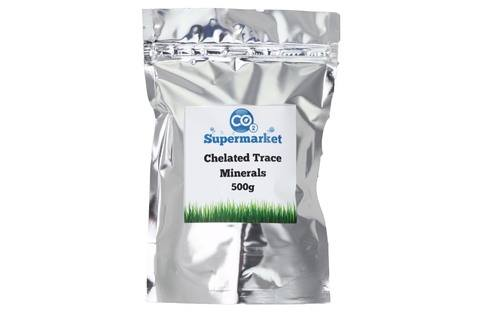 Photo showing a pouch of Chelated Trace Elements 500g