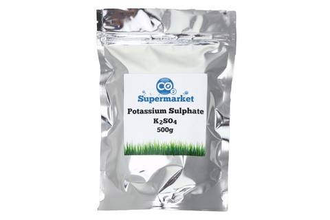 Photo showing a pouch of 500g Potassium Sulphate