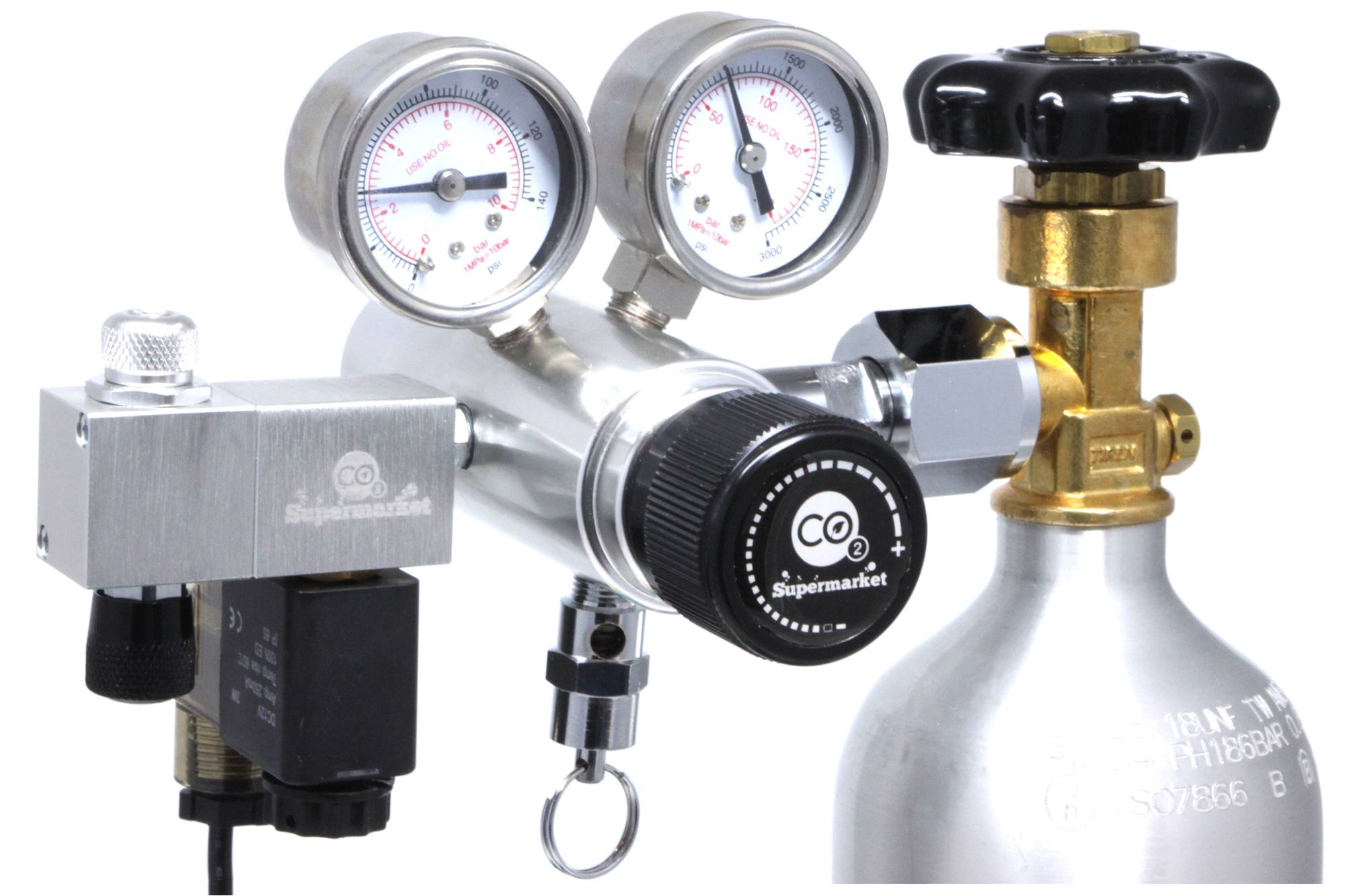 Ultimate-Pro Dual Stage CO2 Regulator and Solenoid