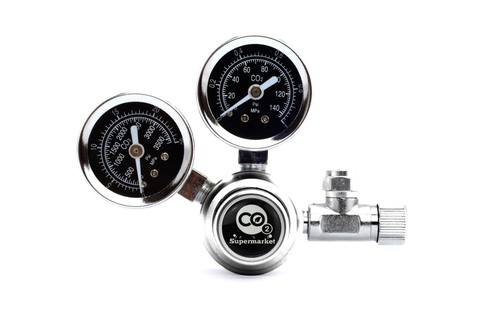 Photo of dual gauge regulator for homebrew and aquarium CO2 systems