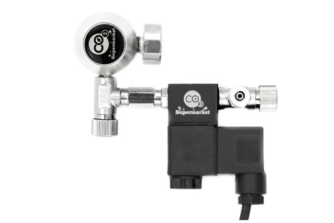 Photo of 24mm extension connecting regulator to solenoid with needle vale.